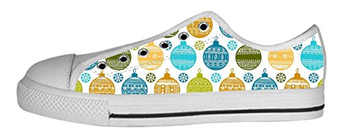 Toile Femme Bas Chaussures Chirstmas Ball Design Newlowtopball23