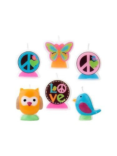 Amscan Hippie Chick Mini Molded Cake Candles (6ct) ()