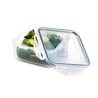 LOCK & LOCK HPL854 Easy Essentials Food Storage lids/Airtight containers, BPA Free, Square-20 oz-for Coffee, Clear