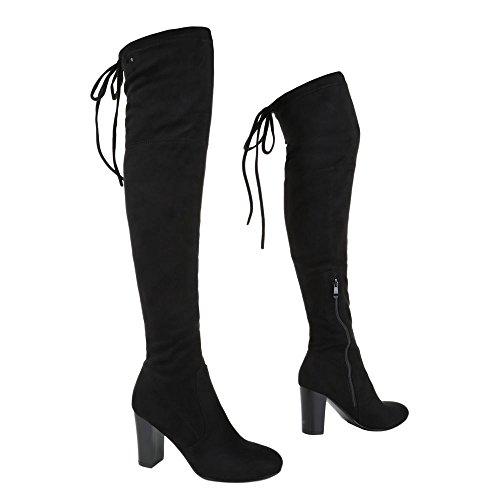 Ital-Design - botas clásicas Mujer Schwarz 6029-GG