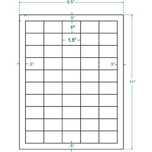 "1.5"" x 1"" White UPC Bar Code Label, 50 Labels per Sheet (100 Sheets per Carton)"