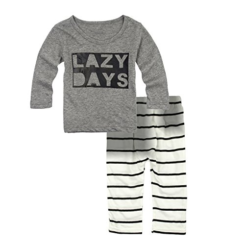 Big Elephant Baby Boys' 2 Piece Long Sleeve Pants Clothing Set (3-6 Months) G34