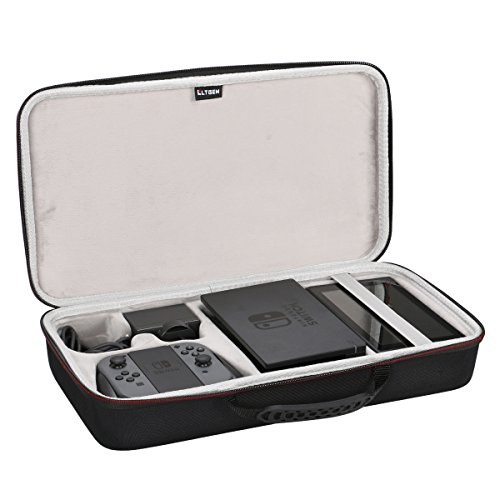 Traveler Deluxe System Case - LTGEM EVA Hard Case compatible with Nintendo Switch. Fits Joy- Con/ Power Adapter/ Dock/ Grip (2018 New ()