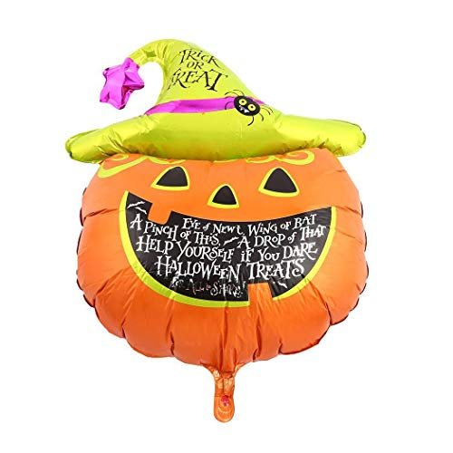 Acecor Halloween Large Pumpkin Foil Balloons Themed Party Decoration, Theme Party Banner, Tinsel, Latex Balloons for Halloween Trick Treat Scary Party Fun from Acecor