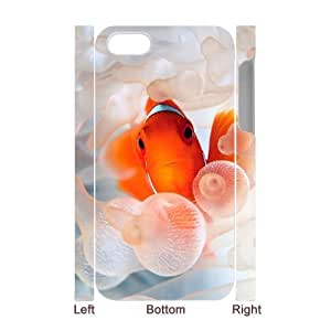 lintao diy 3D Bumper Plastic Case Of Clown Fish customized case For Iphone 4/4s