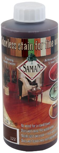 Rosewood Wood Stain - SamaN Interior Water Based Stain for Fine Wood, Rosewood, 12 oz