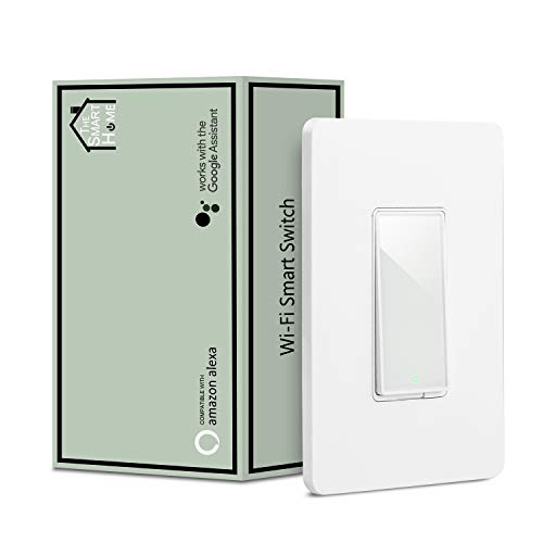 Smart Switch by Martin Jerry | Compatible with Alexa, Smart Home Devices Works with Google Home, 2.4G Wifi, No Hub is required, Easy installation, App and Voice control (1 Pack) by Martin Jerry