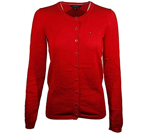 Tommy Hilfiger Womens Cardigan Sweater (XX-Small, Red) (Tommy Hilfiger Sweater Red Women)