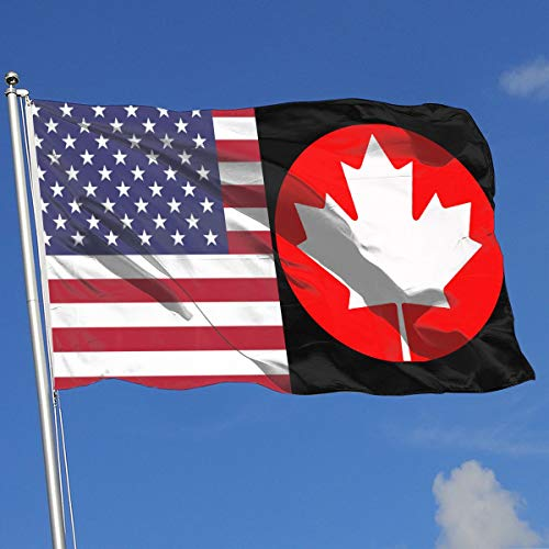 TAOHJS76 Graphic Outdoor/Home Demonstration Flag Canada Maple Leaf Canadian Flag 100% Polyester Single Layer Translucent Flags 3 X 5]()