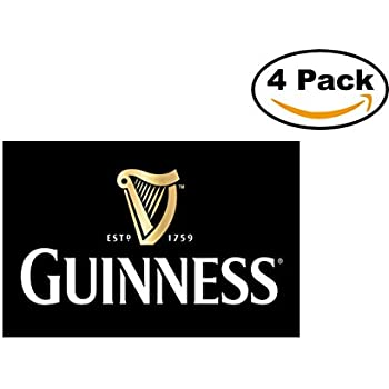 Beer guinness logo 4 stickers 4x4 inches car bumper window sticker decal
