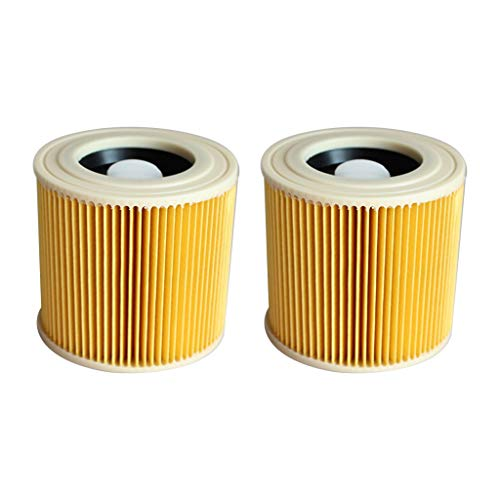 Iusun 2PC HEPA Filters Element Replacement Parts Kits For KARCHER Vacuum Cleaner A/WD Series Accessories With Loc Clearing Set (yellow)