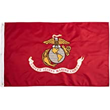 ANLEY [Fly Breeze] 3x5 Foot US Marines Corps Flag - Vivid Color and UV Fade Resistant - Canvas Header and Double Stitched - United States Military Flags Polyester with Brass Grommets