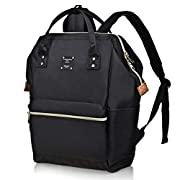 Bebamour Casual Laptop Backpack for Women and Men School Rucksack 15.6 inch Classic Waterproof College Travel Business…