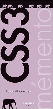 Livre Mémento CSS 3