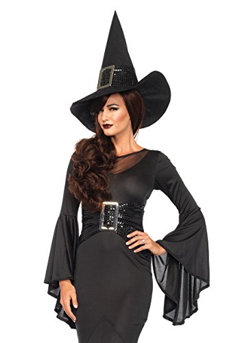 Leg Avenue Women's 2 Piece Wickedly Sexy Witch Costume, Black, Small/Medium (Sexy Witch Halloween)