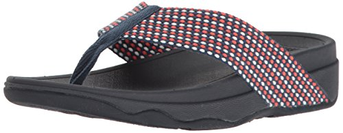 FitFlop Women's Surfa Flip-Flop, Midnight Navy Mix, 7 M US