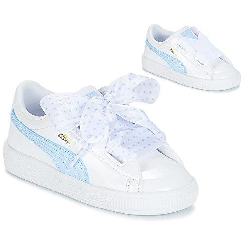 Basket White Basses Heart Stars Blanc 01 Fille cerulean metallic Gold puma Sneakers Inf Puma UxRdzAqd