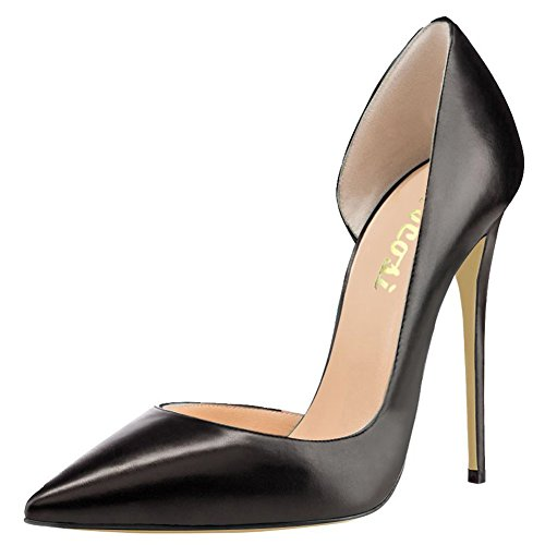 Thin Black Ladies Pumps Party Air Dress With VOCOSI Toe Matte Shoes Side Heels Heels Women's for High Pointy Women pwwnfFXgq