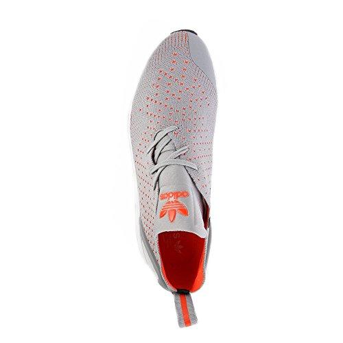 Adidas Originali Mens Originali Zx Flux Adv Scarpe Da Ginnastica Asimmetriche Primeknit Us10.5 Grigio