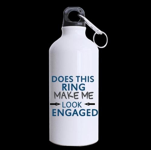 Amazon Friends Gifts Birthday Presents Does This Ring Make Me Look Engaged Sports Or Water Cup100 Aluminum 135 OZ Bottles Kitchen Dining