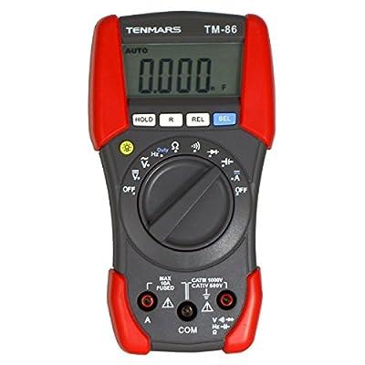 Contempo Views TM-86 AC DC Digital Multimeter CAT IV 600V capacitance tester