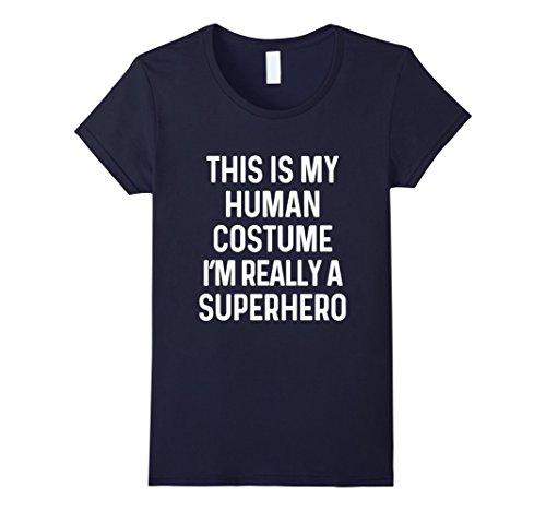 Womens Funny Superhero Costume Shirt Halloween Kids Adult Men Women Large (Superhero Costumes For Women Ideas)