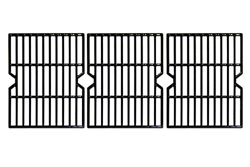 Hongso PCA593 Porcelain Coated Cast Iron Cooking Grid Replacement for Uniflame GBC1059WB, Uniflame GBC1059WE-C, Backyard Grill BY12-084-029-98 and Other Gas Grill Models, Set of 3