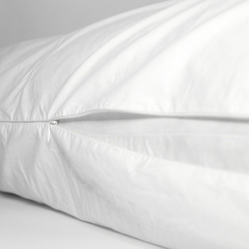 Living Healthy Products 63-DC-822779302020 Cotton Pillow Protector, White - King LGHP910