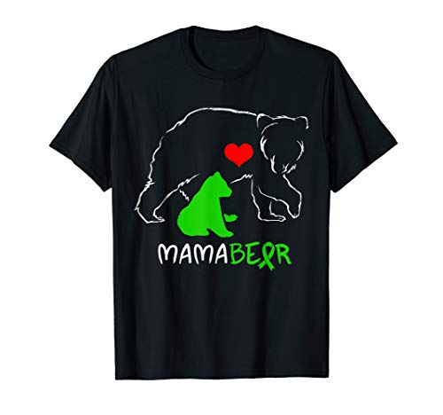 (Mama Bear Cerebral Palsy Awareness Ribbon T Shirt Autism)