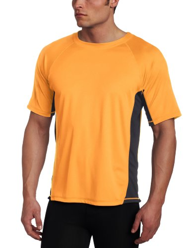 - Kanu Surf Men's CB Rashguard UPF 50+ Swim Shirt (Regular & Extended Sizes), Neon Orange, Large