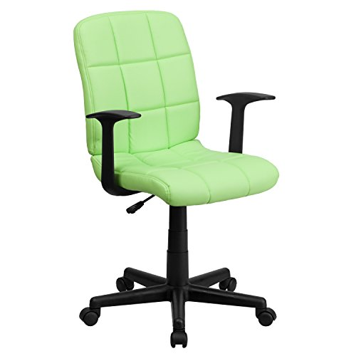 Flash Furniture Mid-Back Green Quilted Vinyl Swivel Task Cha