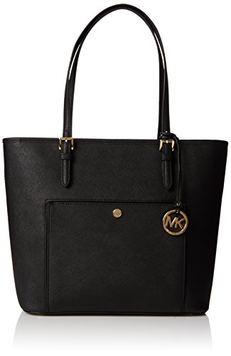 MICHAEL Michael Kors Jet Set Large Saffiano Leather Tote, Color Black by MICHAEL Michael Kors
