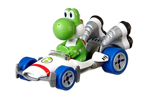 Hot Wheels GBG29 Mario Kart Yoshi, B-Dasher Vehicle, Multicolour