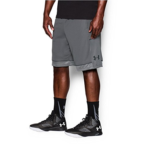 fan products of Under Armour Men's Baseline Basketball Shorts,Graphite/Stealth Gray, Medium