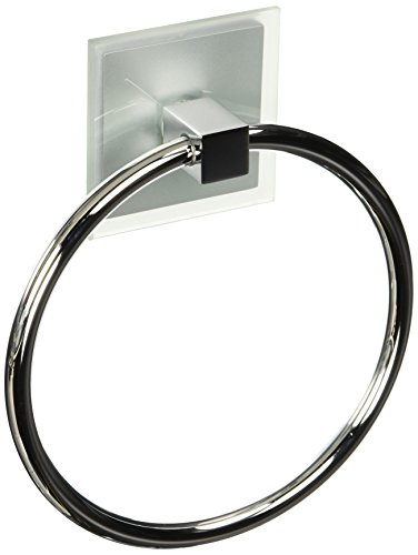Atlas Homewares ETR-CH Eucalyptus Collection 6.12-Inch Towel Ring, Polished Chrome