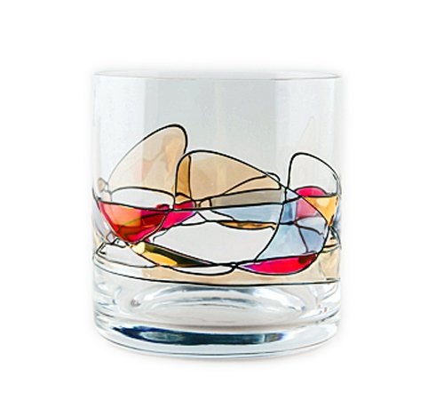 Milano Noir Old Fashioned Glass Set (Set of 4)