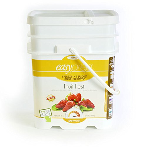 EasyPrep Fruit Fest 1-Month Emergency Food Storage Supply, Freeze-Dried Fruits, Variety, Snack (168 total Servings) by EasyPrep