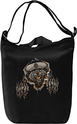 Soviet bear Borsa Giornaliera Canvas Canvas Day Bag| 100% Premium Cotton Canvas| DTG Printing|