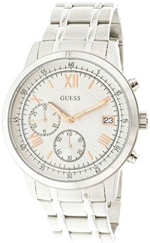 Guess-Mens-U1001G1-Silver-Stainless-Steel-Japanese-Quartz-Fashion-Watch