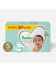 Pampers Premium Care Diapers, Size 5-120 Diapers