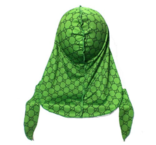 Customs Slippery Apparel | Designer Durag (30+ Designs) Fashion Durags LV Supreme Ape & More (Slime GG)