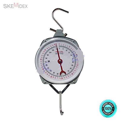 COLIBROX- Steel Construction. Scale Weighs Items up to 110 lbs.New 110LBS Hang Up Spring Scale Dial Weight Accurate Hanging Scale Produce Food Highly Accurate and Reliable