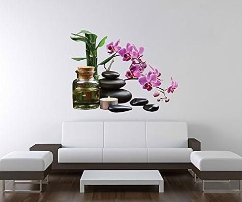 Wellness bilder steine  3D Wandtattoo Wellness Bambus Steine Yoga Blume Wand Aufkleber ...