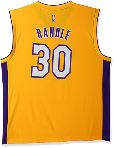 NBA Men's Los Angeles Lakers El Replica Player Home Jersey, X-Large, Yellow