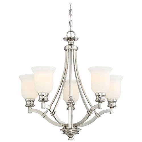 Price comparison product image Minka Lavery Chandelier Lighting 3295-613 Audrey's Point,  5-Light 500 Total Watts,  Polished Nickel