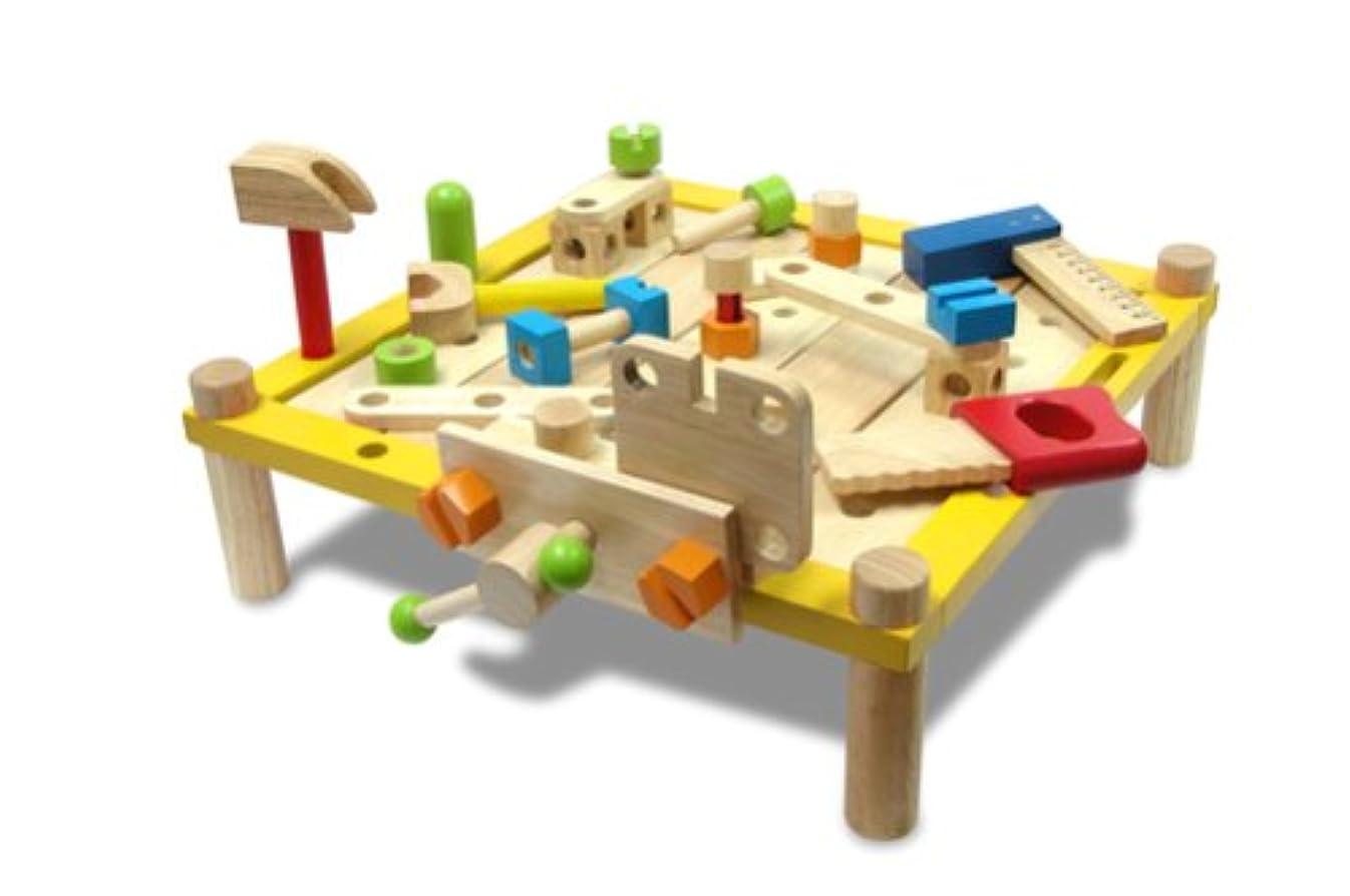 プレビュー算術保持する(ロータスライフ)LOTUS LIFE 知育 おもちゃ 男の子 大工さんセット 木のおもちゃ 知育玩具 木製 3歳