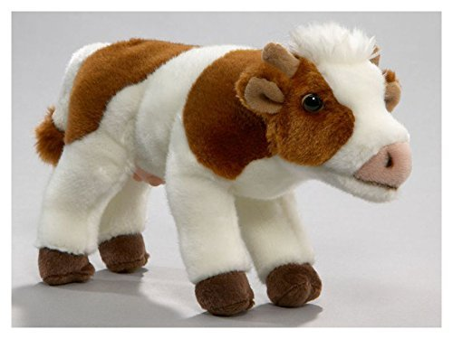 Cow brown-white, 9 inches, 23cm, Plush Toy, Soft Toy, Stuffed (Brown White Cow)