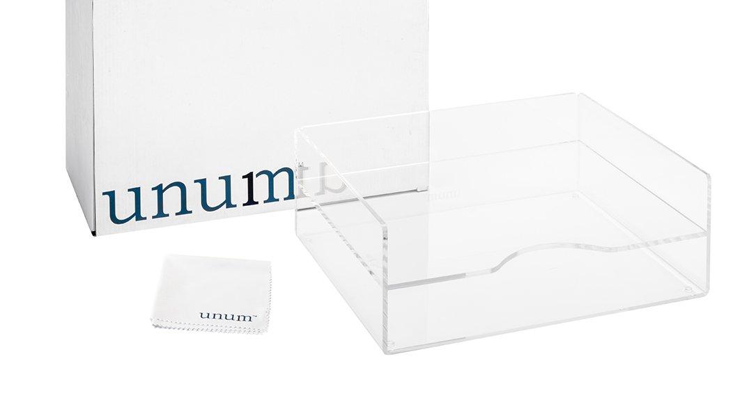 Unum Clear Acrylic Desktop Letter Tray, 2-Tier; Desk Organizer Double Tray for Paper, Files, Folders