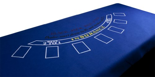 72 X 36 Inch Blue Felt Blackjack Table Layout - Includes Bonus Deck of Cards! by TMG