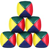 Patelai Juggling Balls Set for Beginners, Quality Mini Juggling Balls, Durable Juggle Ball Kit, Soft Easy Juggle Balls for Boys Girls and Adults, Multicolored (6 Packs)